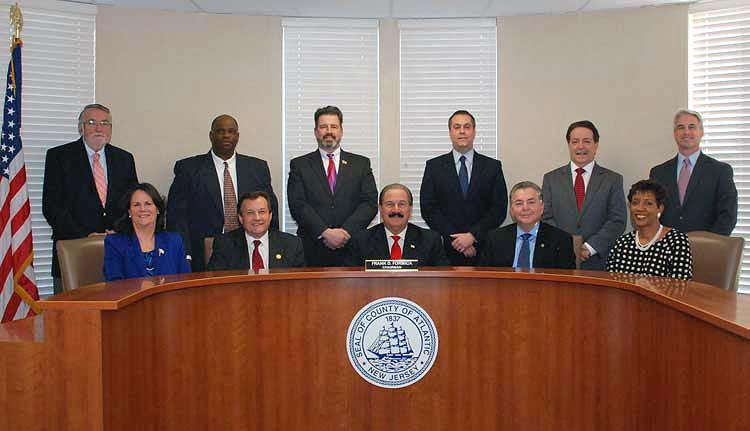 The Board of Chosen Freeholders convene at the 2016 Reorganization Meeting - January 5, 2016