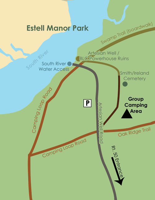 Estell Manor Camping Map