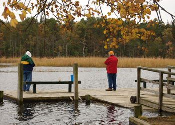 Fishing on the Great Egg Harbor River in Estell Manor Park.