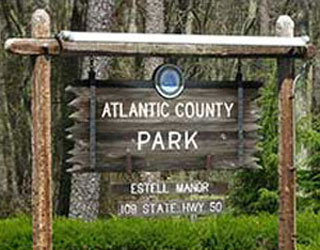 Atlantic County Park Estell Manor Sign