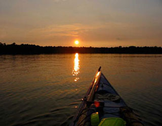 Sunset - Kayaking on Lake Lenape